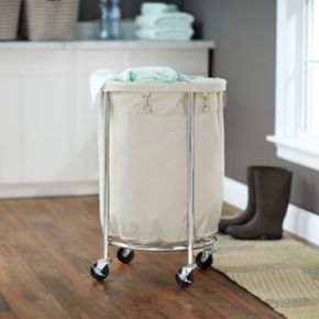 Household Essentials Rolling Round Laundry Hamper