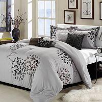 Cheila Silver Finish 8 pc Comforter Set