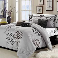 Cheila Silver Finish 8-pc. Comforter Set