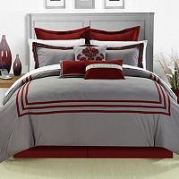 Cosmo Red 8 pc Comforter Set