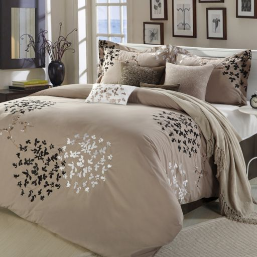 Cheila Taupe 8-pc. Comforter Set