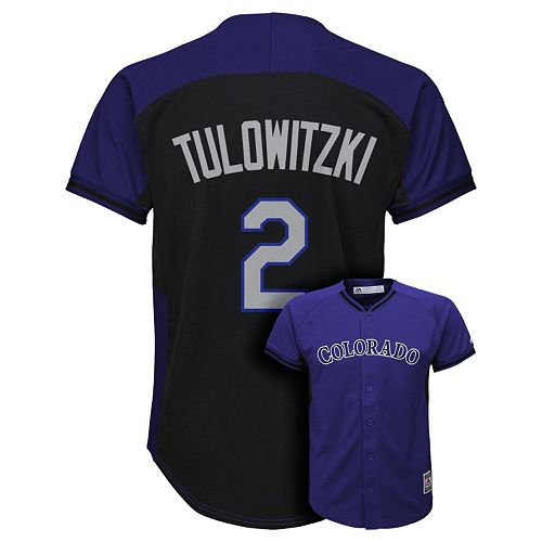 406a70cf3 Boys 8-20 Majestic Colorado Rockies Troy Tulowitzki Fashion Batting  Practice MLB Jersey