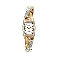 Armitron Women's Crystal Half-Bangle Watch - 75/5242SVTT
