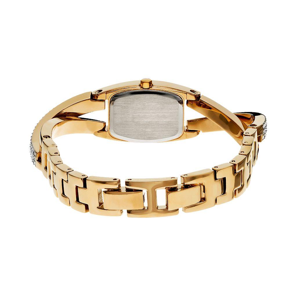 Armitron Women's Crystal Half-Bangle Watch - 75/5242SVTT