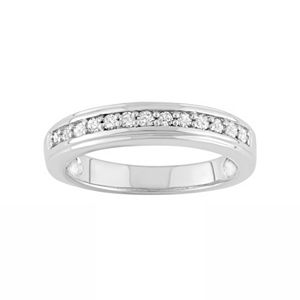 1/4 Carat T.W. Diamond Sterling Silver Ring
