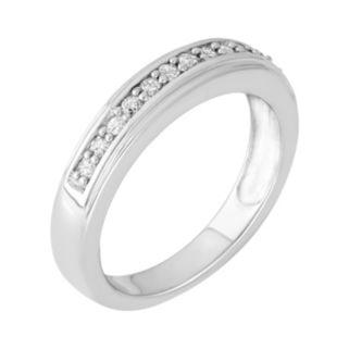 1/4 Carat T.W. Diamond Sterling Silver Ring