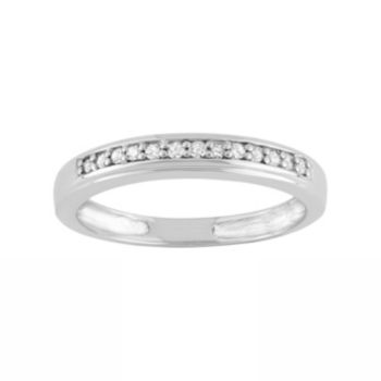 1/10 Carat T.W. Diamond Sterling Silver Ring