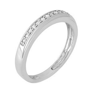 1/10 Carat T.W. Diamond Sterling Silver Ring
