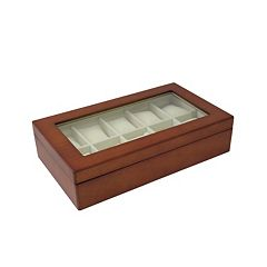 Bey-Berk Wood 10-Slot Watch Box - Men