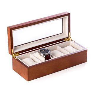 Bey-Berk Wood 4-Slot Watch Box - Men