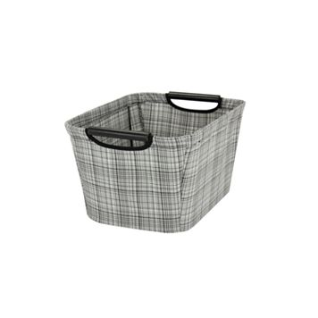 Household Essentials Plaid Tapered Storage Bin - Small
