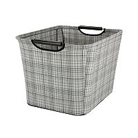Household Essentials Plaid Tapered Storage Bin - Medium