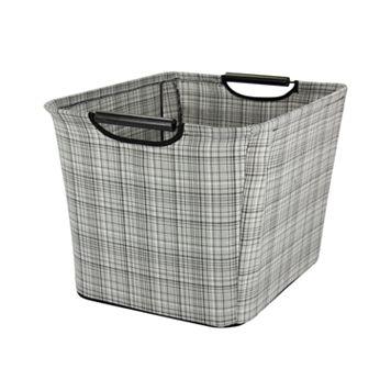 Household Essentials Plaid Tapered Storage Bin - Medium