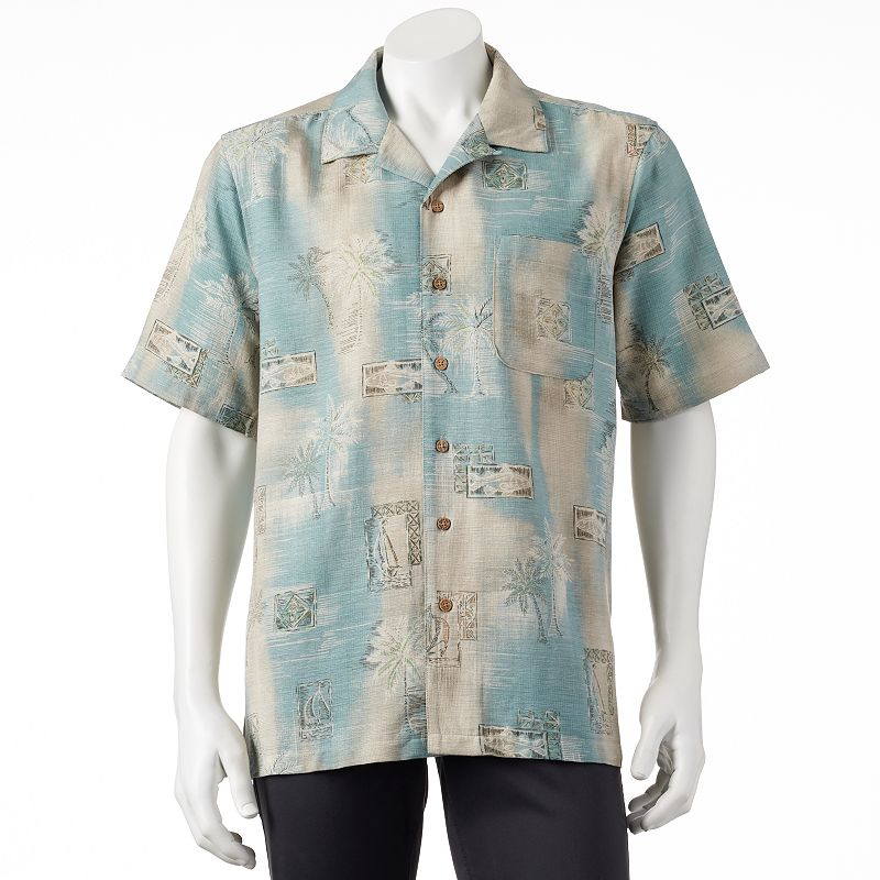 Imported palm shirt kohl 39 s for Men s batik bay silk blend button down shirt