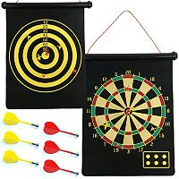 Magnetic Roll-Up Dart Board & Bullseye Game