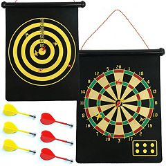 Magnetic Roll-Up Dart Board & Bullseye Game