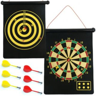 Magnetic Roll-Up Dart Board and Bullseye Game