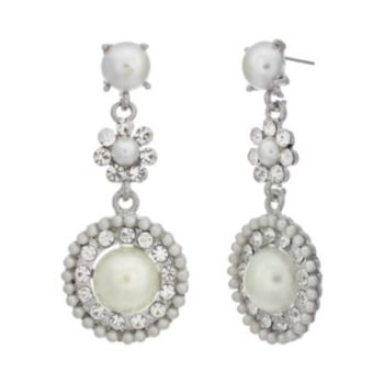 Crystal Allure Circle Drop Earrings