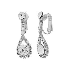 Crystal Allure Teardrop Earrings