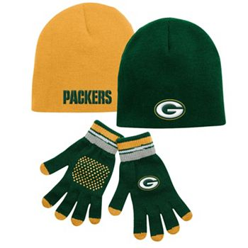 Hot Youth Green Bay Packers Hat & Glove Set  for sale