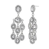 Crystal Allure Chandelier Earrings