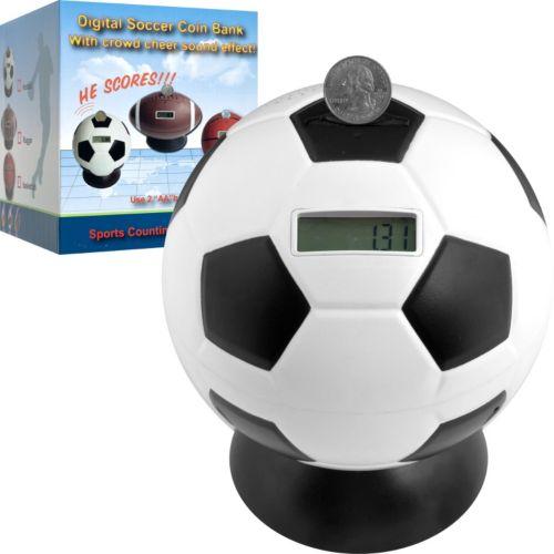 Soccer Ball Digital Coin Counting Bank