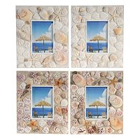 4-piece 4'' x 6'' Seashell Frame Set