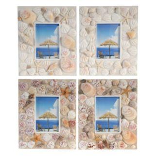4-piece 4'' x 6'' Seashell Frame Set