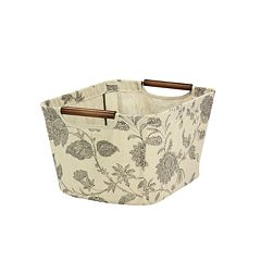 Household Essentials Floral Tapered Storage Bin - Small