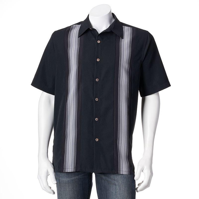 Batik bay paneled button down shirt big tall for Men s batik bay silk blend button down shirt