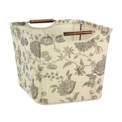 Household Essentials Floral Tapered Storage Bin - Medium