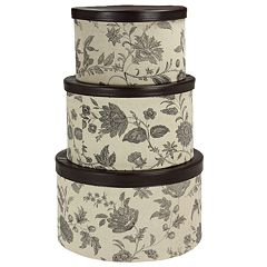Household Essentials Floral 3-pc. Hat Storage Box Set