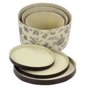 Household Essentials Floral 3-pc. Hat Storage Box Set
