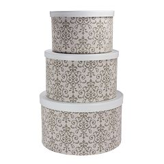 Household Essentials Scroll 3-pc. Hat Storage Box Set