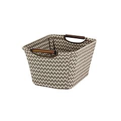 Household Essentials Chevron Tapered Storage Bin - Small