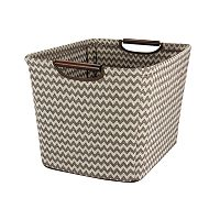 Household Essentials Chevron Tapered Storage Bin - Medium