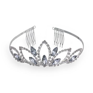 Crystal Allure Lotus Petal Tiara Headband