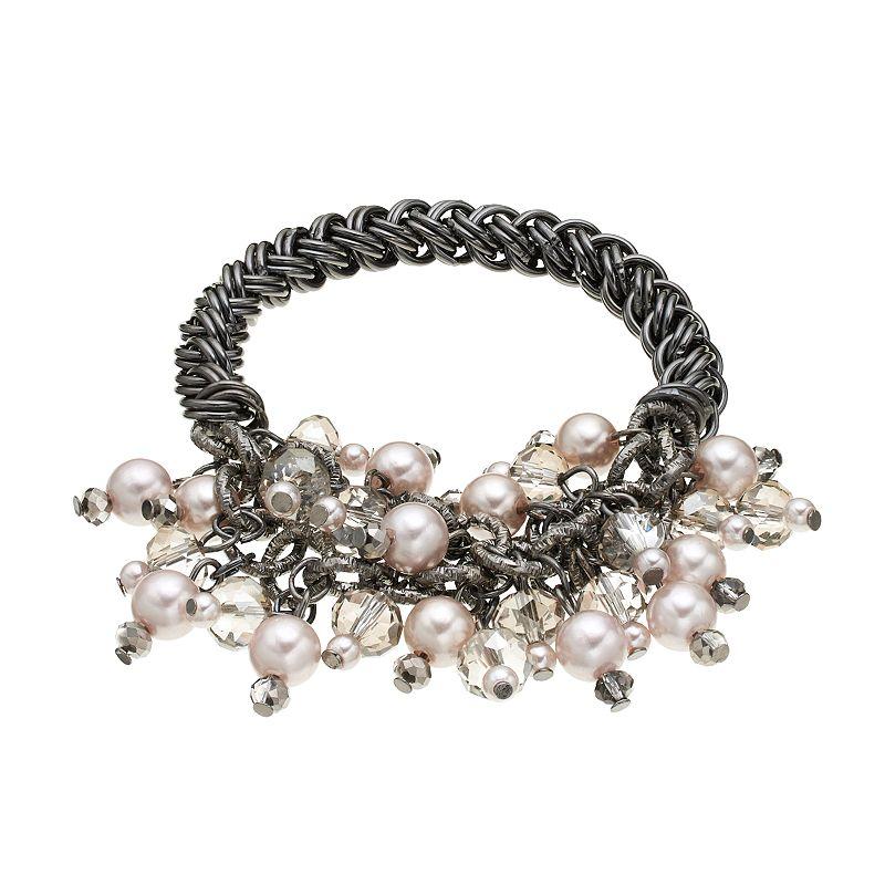 Simply Vera Vera Wang Bead Cluster Stretch Bracelet