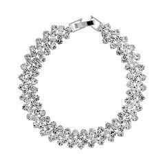 Crystal Allure Cluster Bracelet