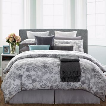 Ever Rouge White Lotus 7-pc. Duvet Cover Set