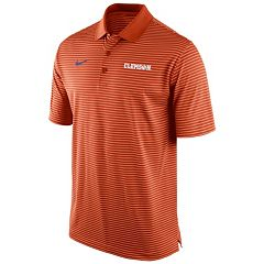 Men's Nike Clemson Tigers Striped Stadium Dri-FIT Performance Polo