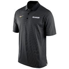 Men's Nike Colorado Buffaloes Striped Stadium Dri-FIT Performance Polo