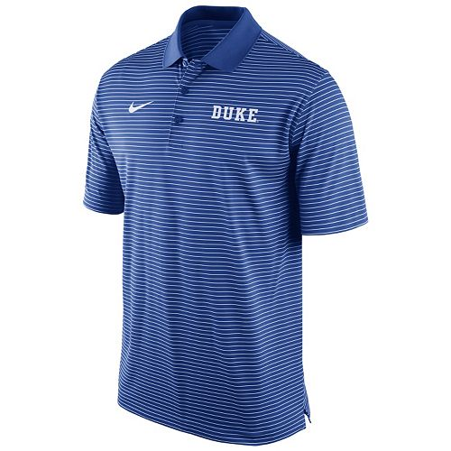 2d5c7c45 Men's Nike Duke Blue Devils Striped Stadium Dri-FIT Performance Polo