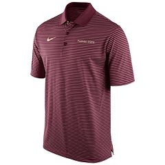 Men's Nike Florida State Seminoles Striped Stadium Dri-FIT Performance Polo
