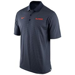 Men's Nike Illinois Fighting Illini Striped Stadium Dri-FIT Performance Polo