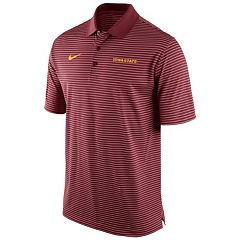 Men's Nike Iowa State Cyclones Striped Stadium Dri-FIT Performance Polo