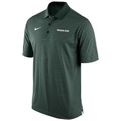 Men's Nike Michigan State Spartans Striped Stadium Dri-FIT Performance Polo