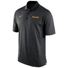 Men's Nike Missouri Tigers Striped Stadium Dri-FIT Performance Polo