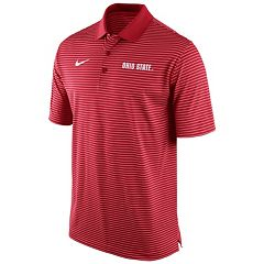 Men's Nike Ohio State Buckeyes Striped Stadium Dri-FIT Performance Polo