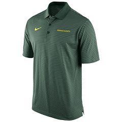 Men's Nike Oregon Ducks Striped Stadium Dri-FIT Performance Polo